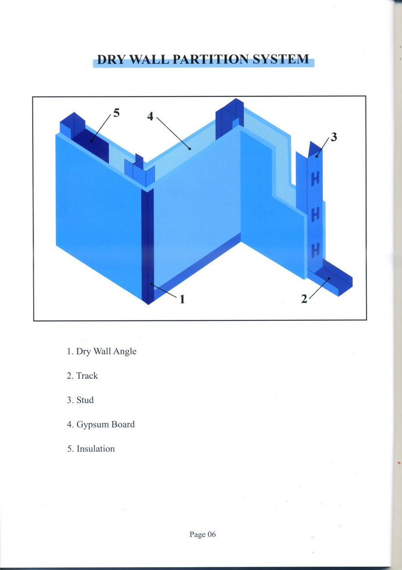 Drywall Partition System : Furring ceiling system drywall partition